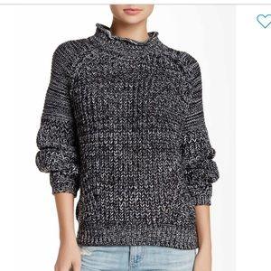 Valette mega stitch funnel neck pullover size L